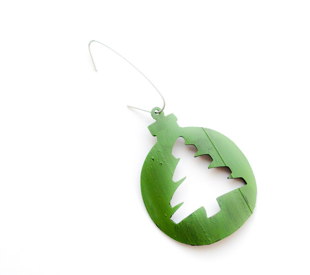 Bicycle Tube Ornaments, Recycled Christmas Tree Ornaments, Birds, Upcycled Garland - pearlreef