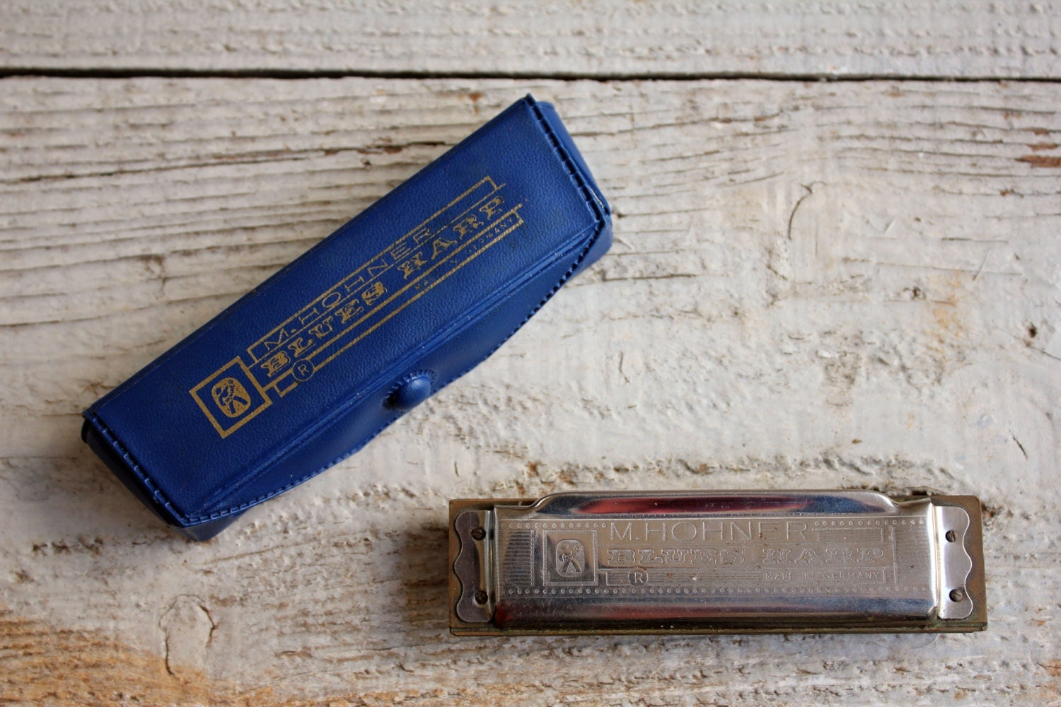 vintage harmonica blue hart germany by m hohner 1970s - 2Hand