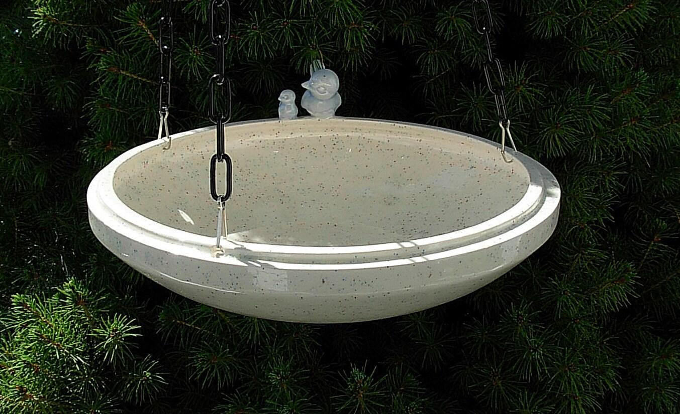 Hanging Ceramic Bird Feeder Bird Bath By Ceramicsbylisa