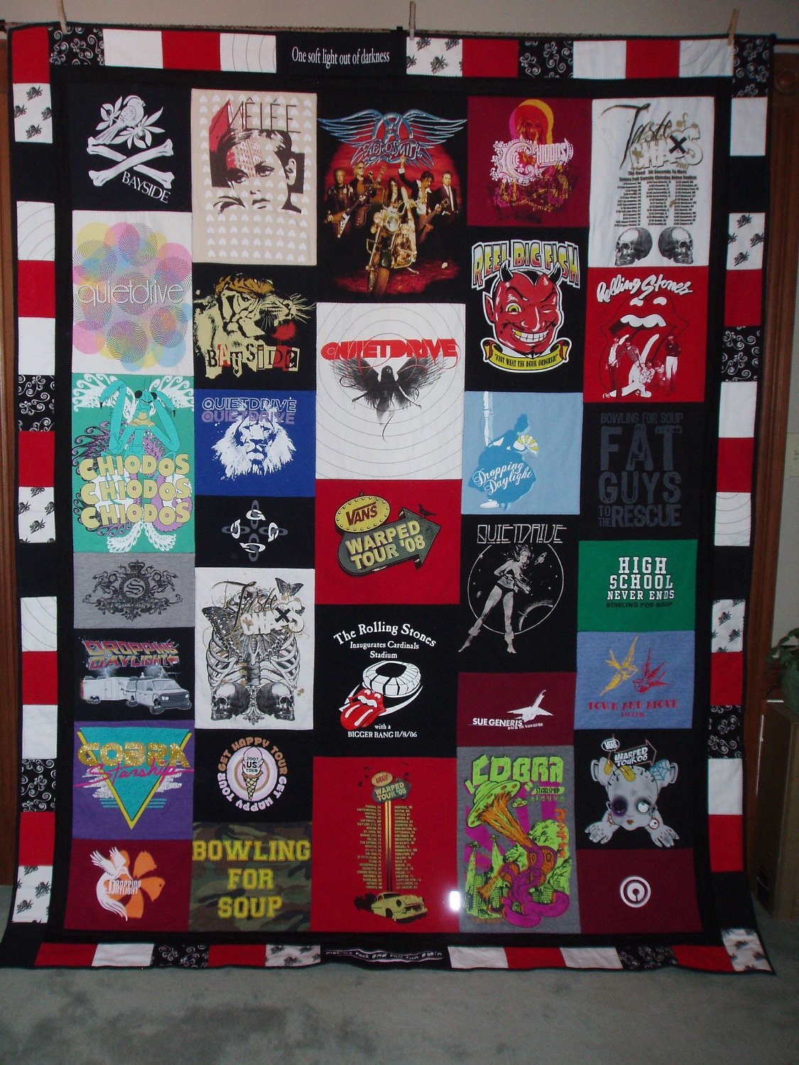 Twin Size Patchwork Style Tshirt Quilt By Barbmalmtshirtquilts