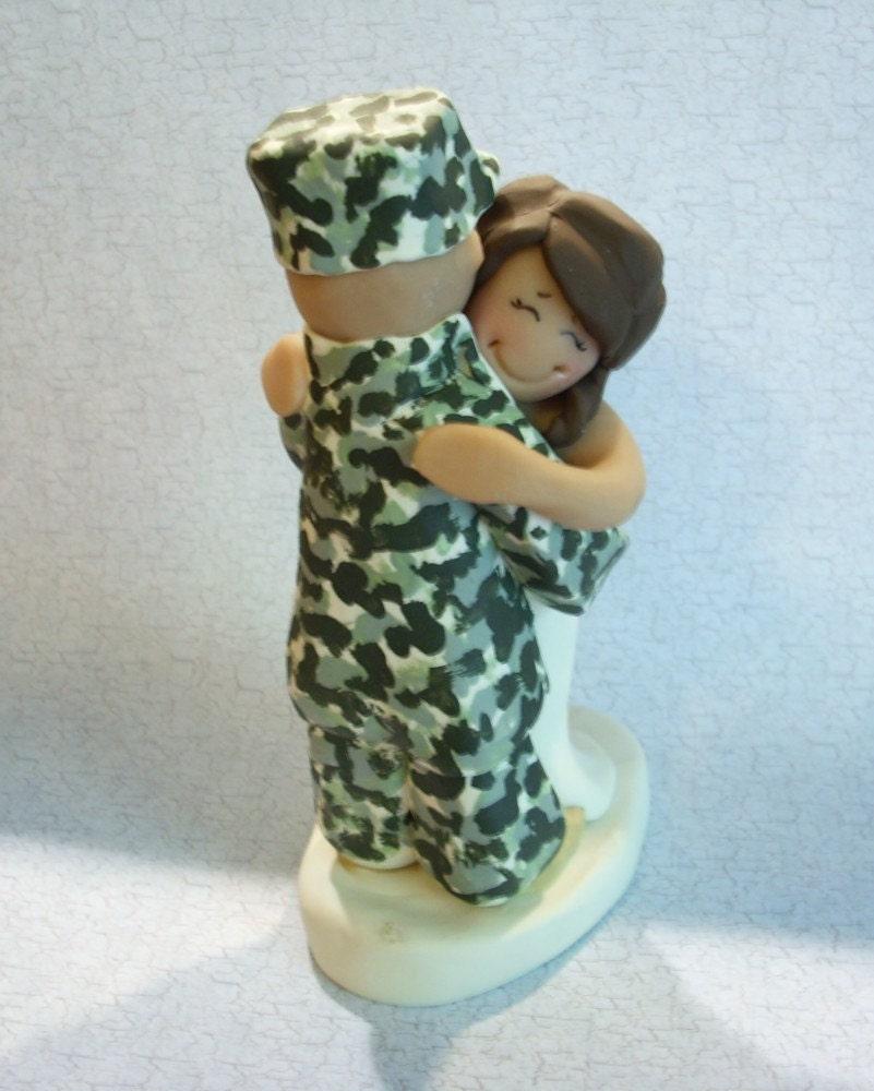 Army Bride Cake Topper