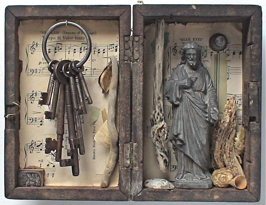 Assemblage art 39 gethsemane 39 by mylittlelovebox on etsy for Art sites like etsy