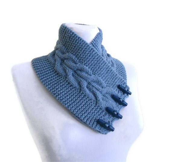Carolina blue, neckwarmers, men,unisex, women,gift, valentine, valentines day, winter trends, fashion, 2012 , Hand Knitted