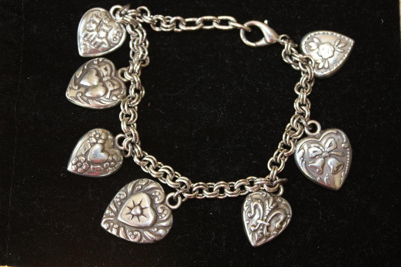 real brighton charm bracelet in silver by vintagebyviola