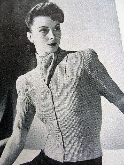 1930s Knitting Patterns : INSTANT PDF PATTERN 1930s Vintage Knitting by vintagepatterncopies