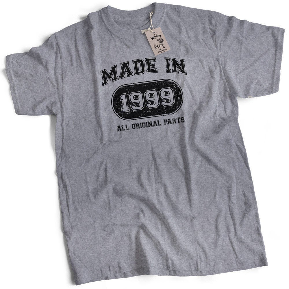 Made In 1999 All Original Parts 18th Birthday Present Mens Premium TShirt Choice of 12 Colours in Sizes Small to 2X Large