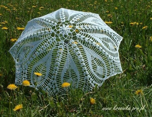 White tulip parasol crochet lace umbrella victorian parasol wedding