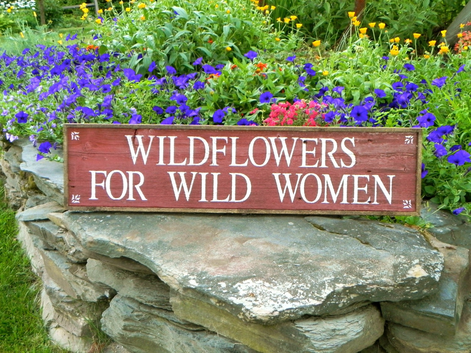 Garden sign and decor outdoor signs rustic wood by for Outdoor decorative signs