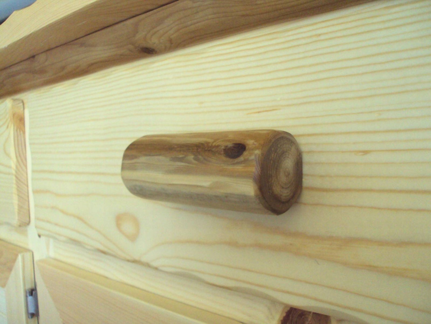 rustic log cabinet drawer pull home cabin lodge by logartistry