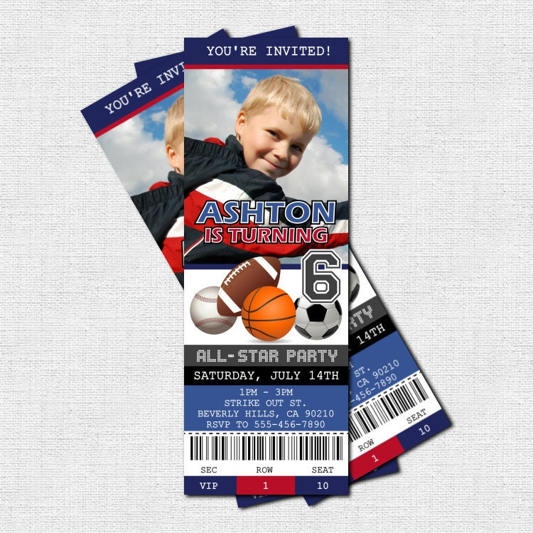 Basketball Ticket Invitations Template