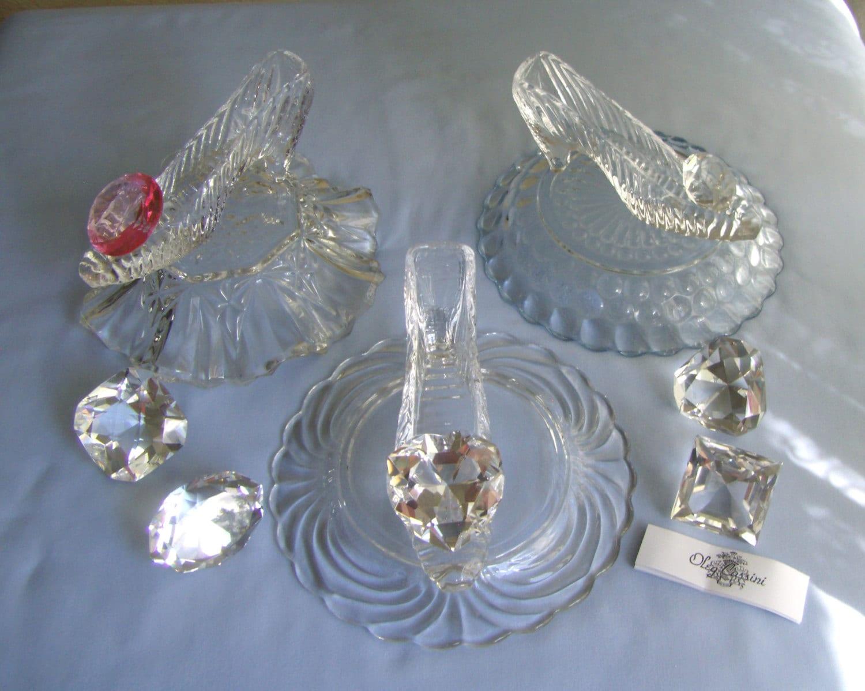 Cinderella glass slipper centerpiece images