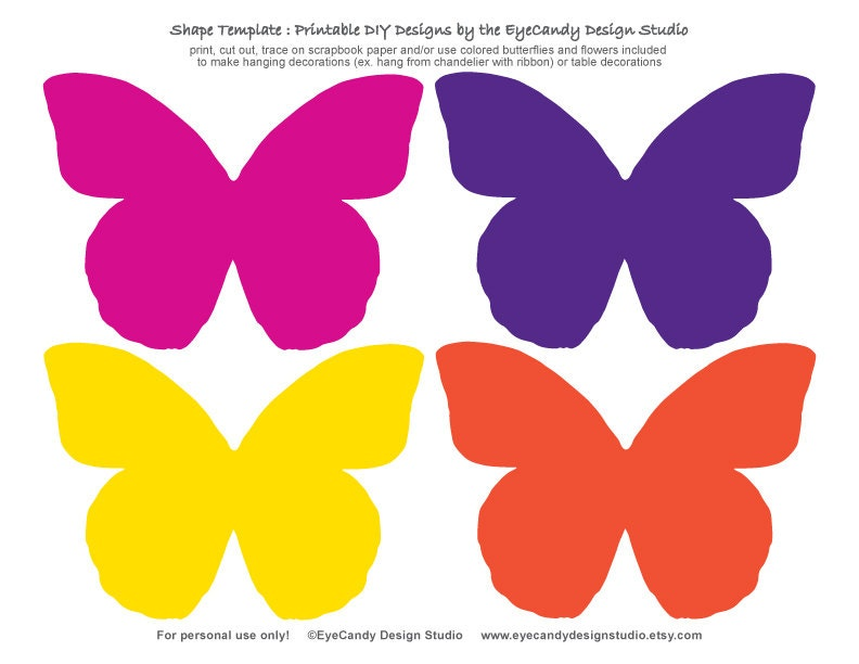 Printable Butterfly & Flower Templates - Fairy Butterfly Party ...