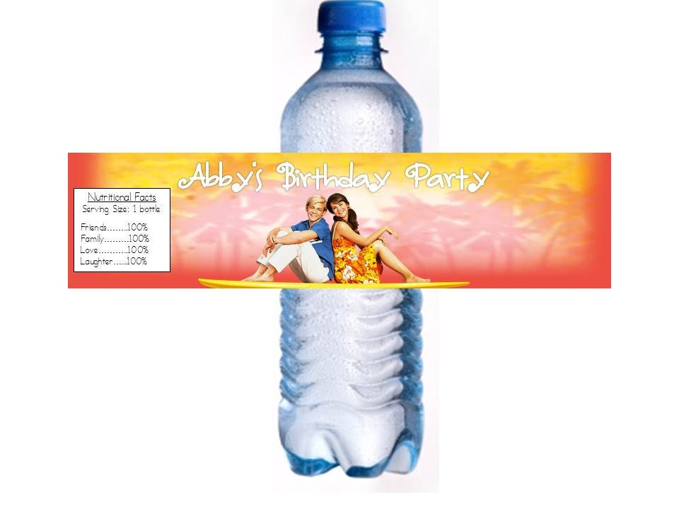 Items similar to teen beach movie water bottle labels 2 designs