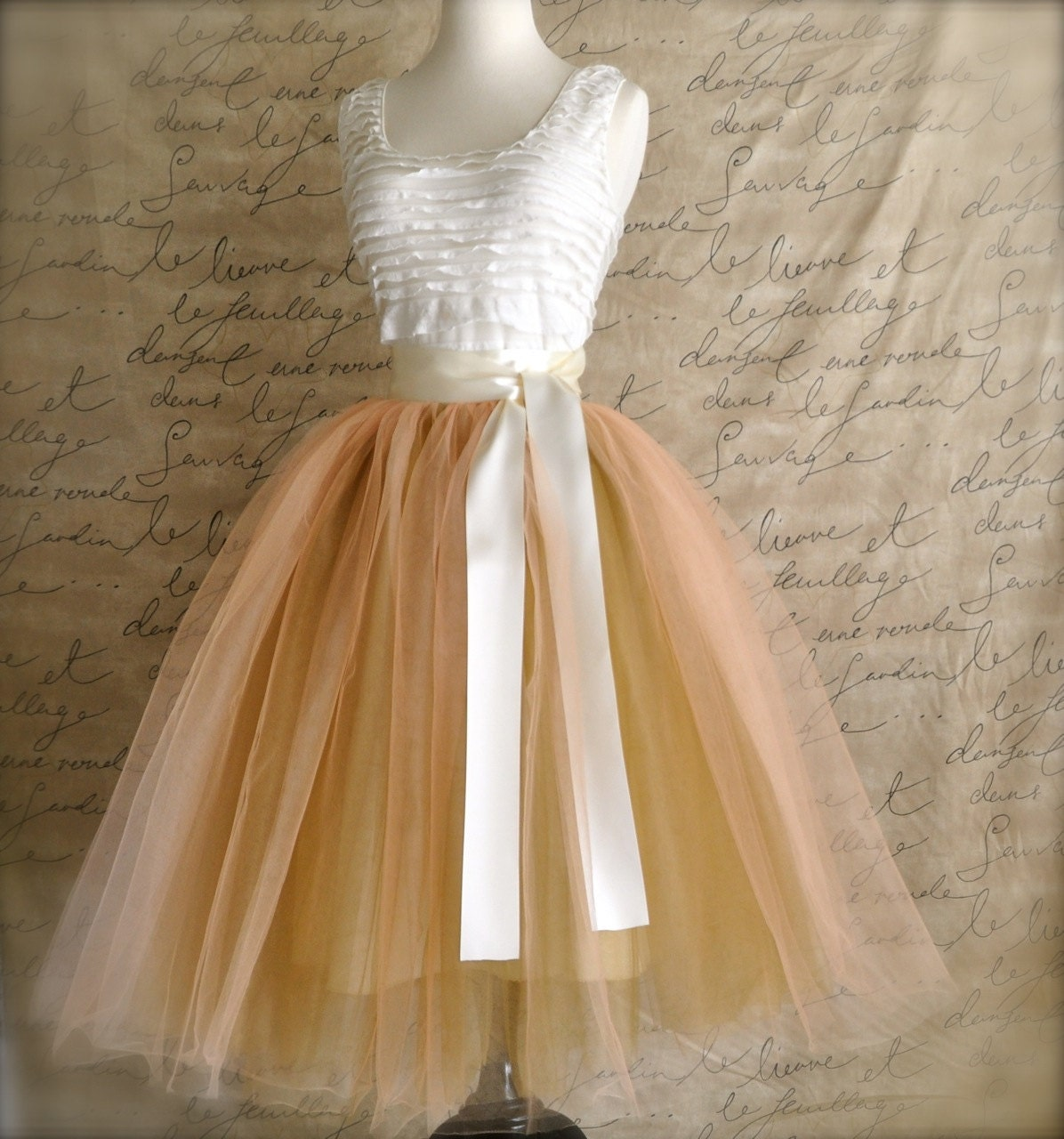 Awesome Summer Women39s Tulle Skirt Princess Big Swing Voile Midi Skirts Womens