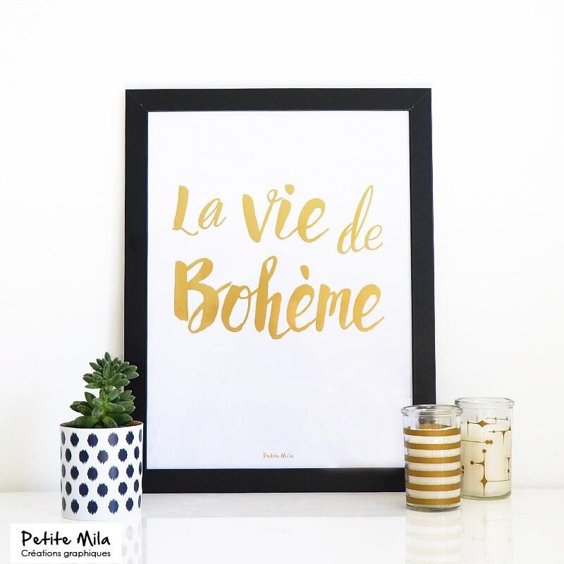 Image du produit Affiche dore Bohme / poster A3