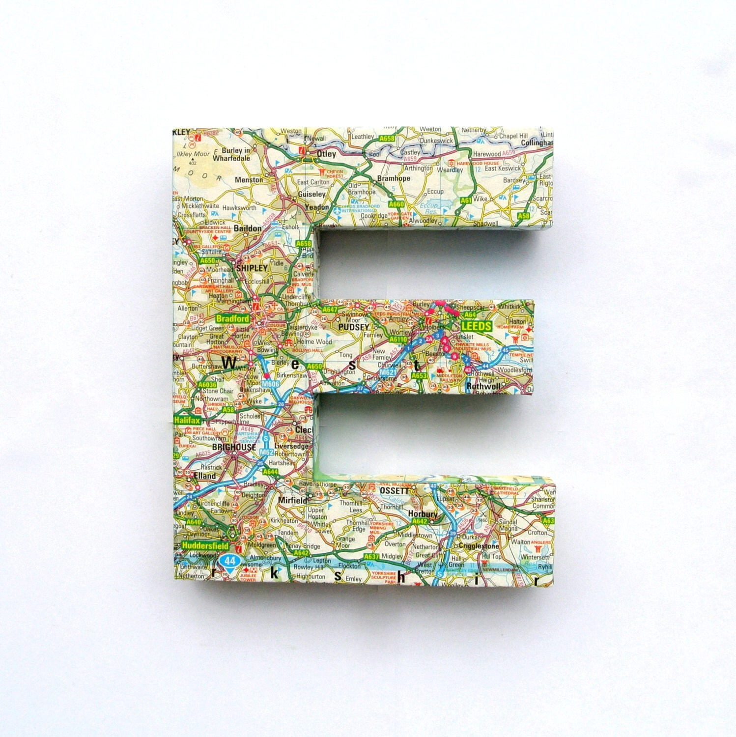 Map Covered Door Sign Mounted Lettering Letters By