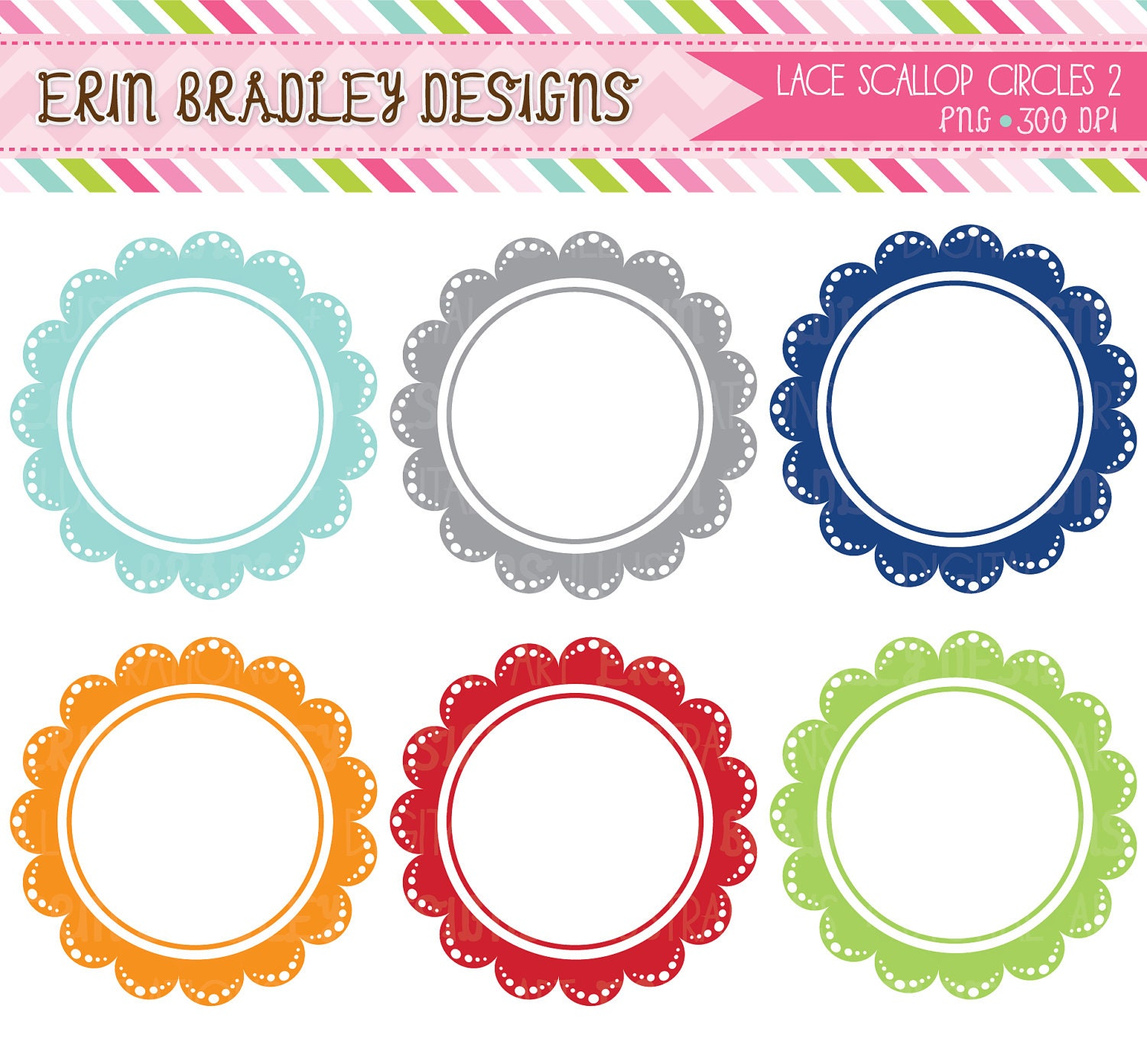 Scallop Frame Png Scallop Frames Clipart