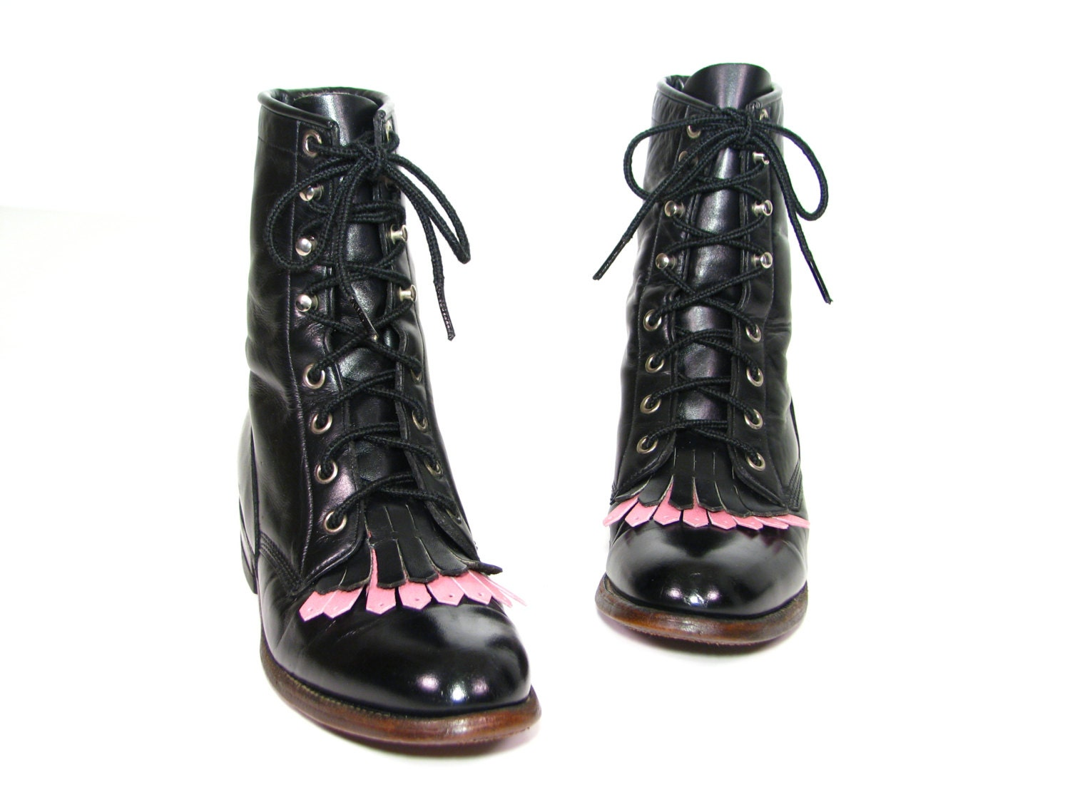 s boots black lacer justin lace up ankle by