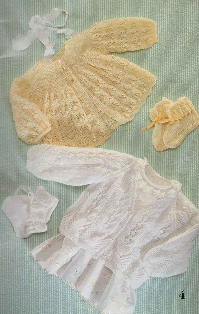 Patons Heirloom Treasures Baby Knitting Patterns by sandmarg