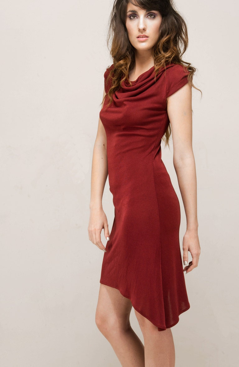 Burgundy mesh dress GRENAT - SOPHIERENARD
