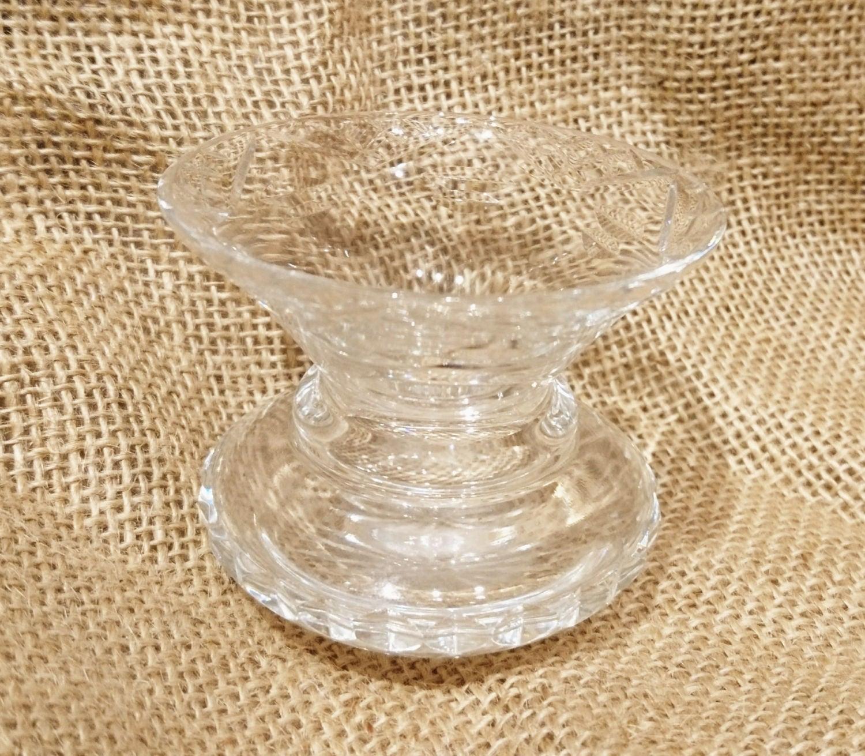 Vintage crystal glass small posy vase tiny vase delicate vase posy holder vintage glass crystal cut