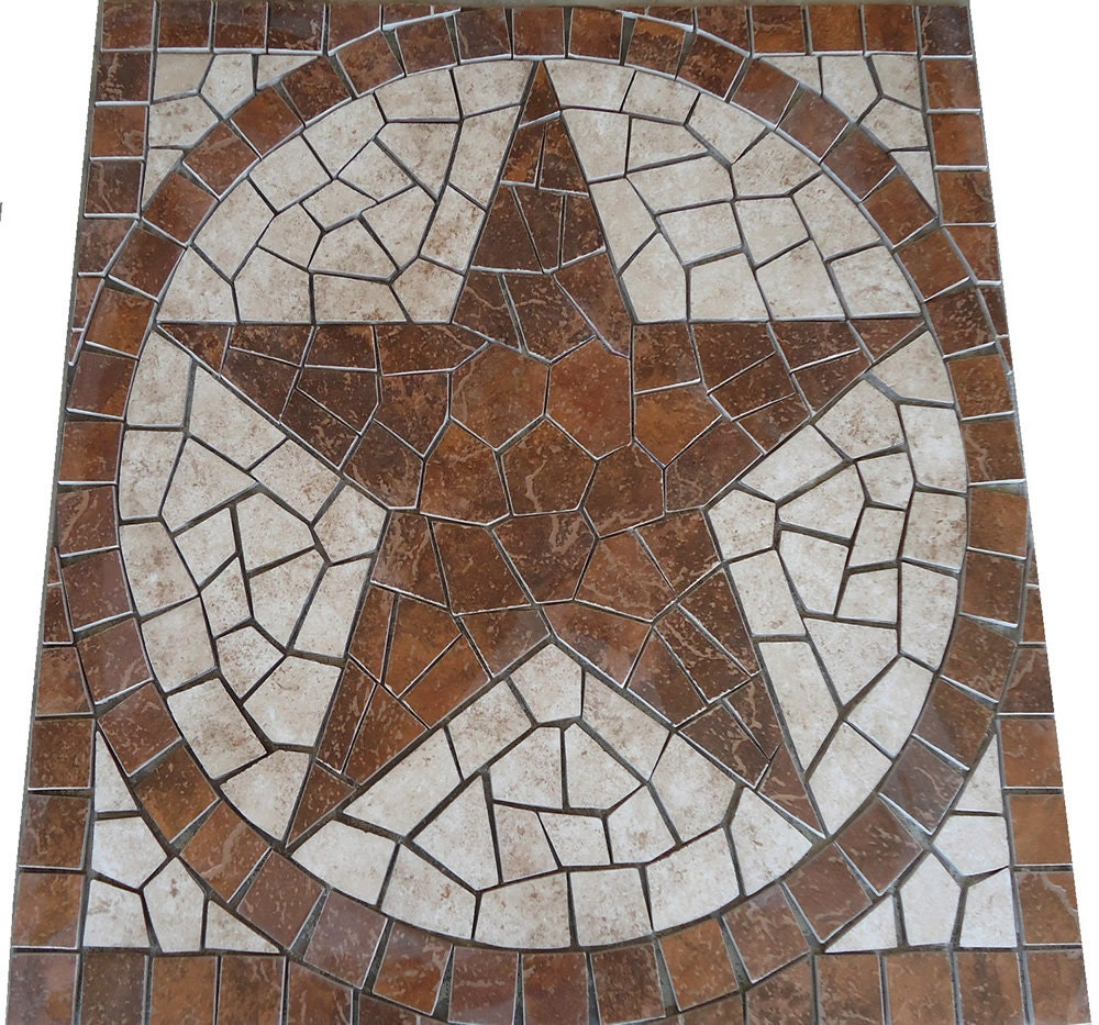 Mosaic marble tile floor