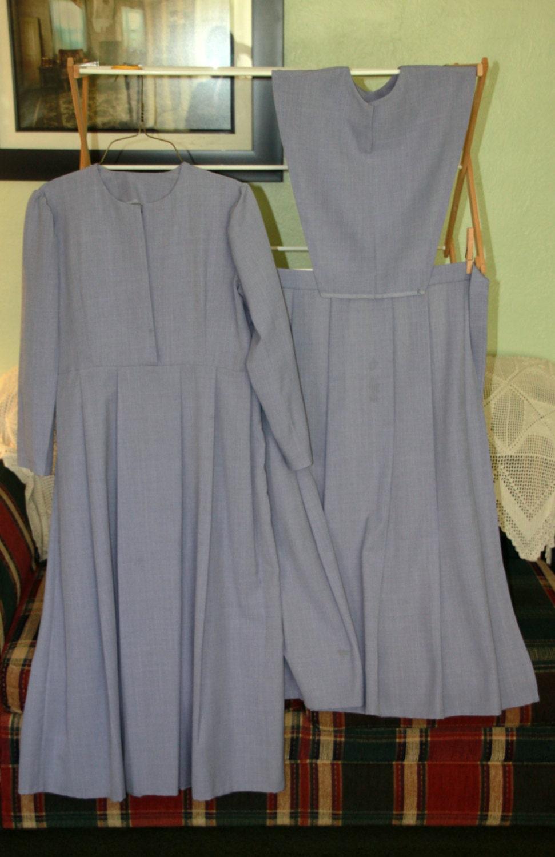 gray 3 amish mennonite dress by