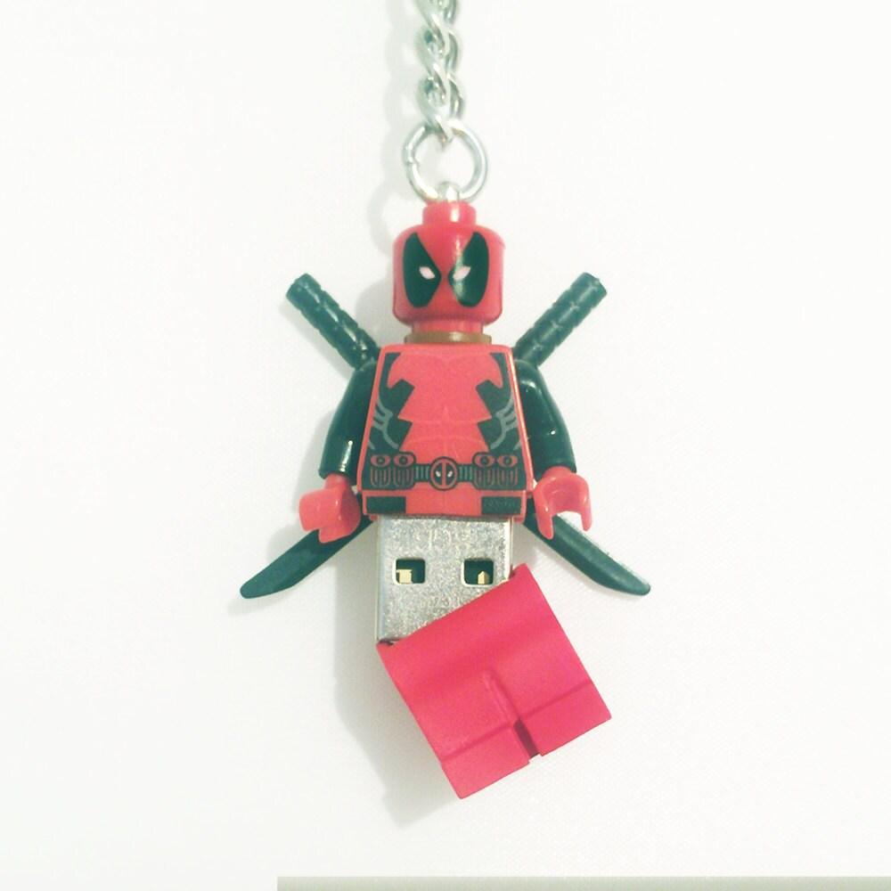 Lego Deadpool USB Minifig Keychain