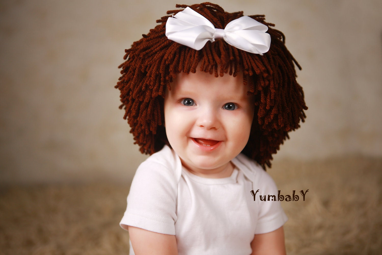 Baby Girl Hat Cabbage Patch Inspired Baby Wig By Yumbaby