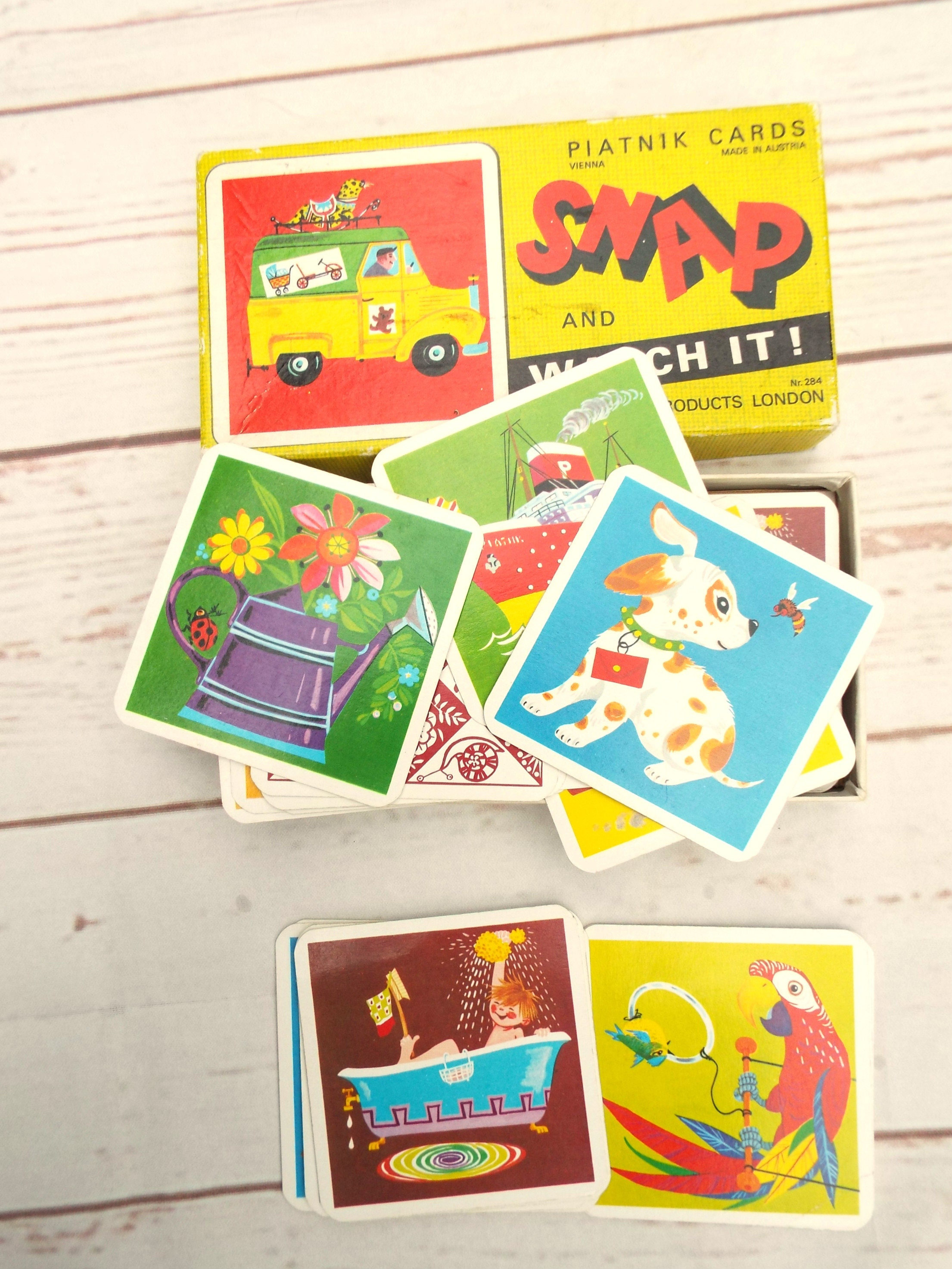 Vintage Snap Cards  Vintage Kids game  Vintage Card Game  70s Vintage Game  Retro Games  Piatnik Cards