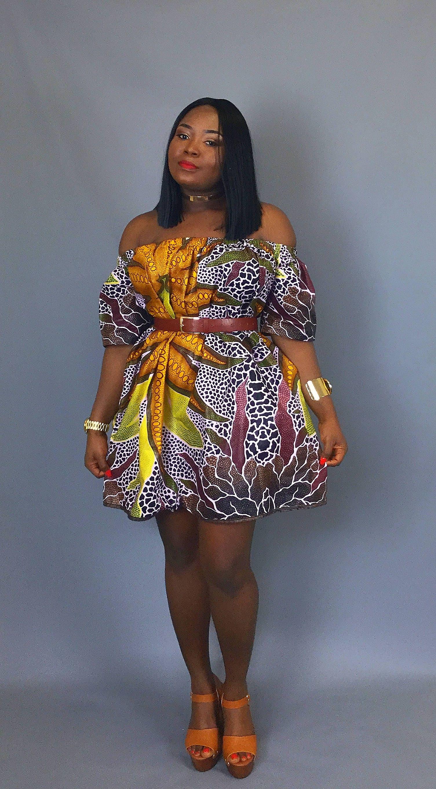 African print off shoulder dressjava print dress dashiki dressAfrican clothingwax print dressmini dresssummer dressAfrican fabric