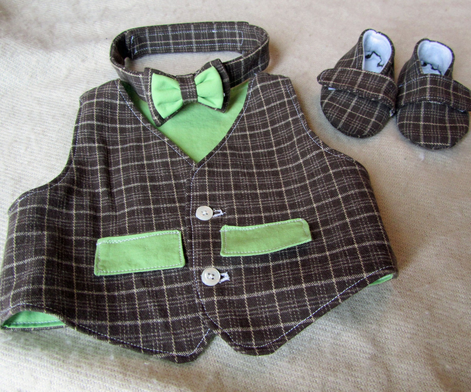 Vest Baby Boy Shoes Bow Tie Sewing Pattern Bundle. by LadybugBend