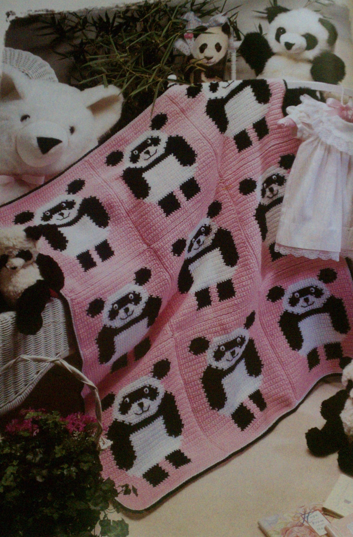 Free Crochet Panda Afghan Patterns : VintageEtsian on Etsy