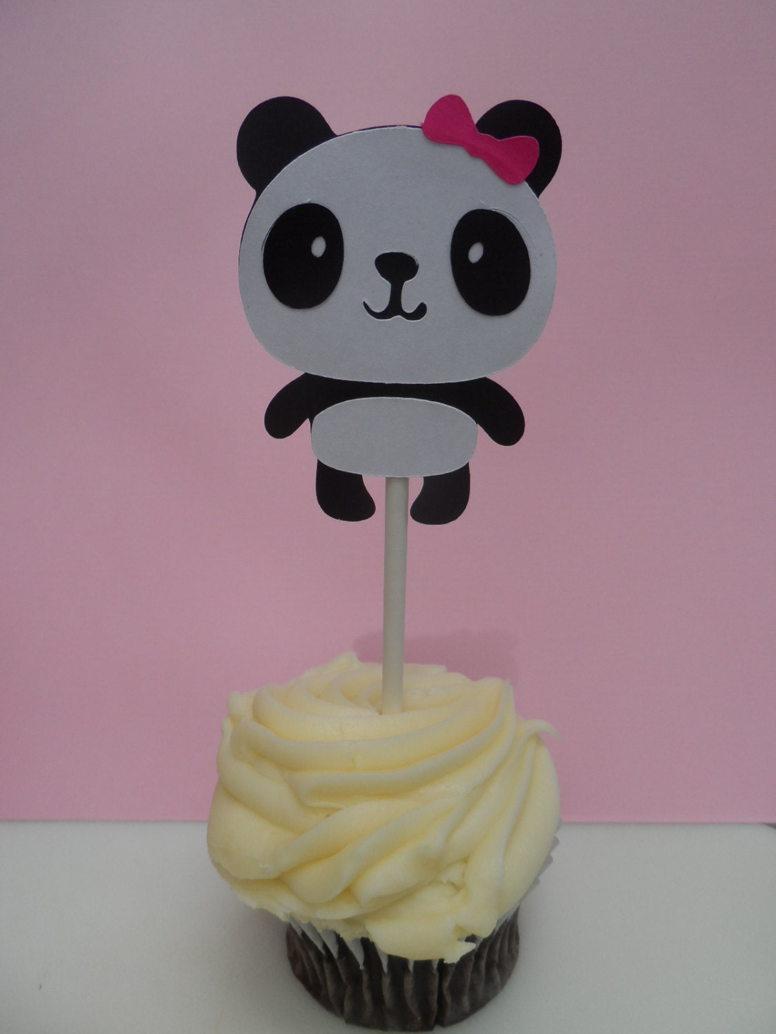 12 panda cupcake toppers baby shower party decoration
