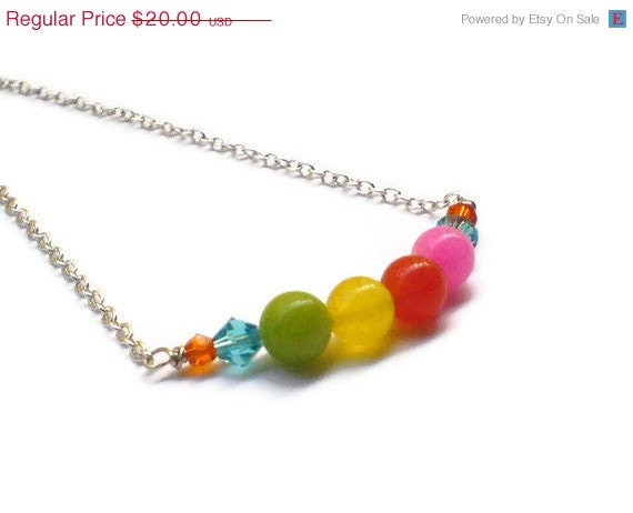 Christmas in July CIJ Summer Necklace Neon vibrant colors