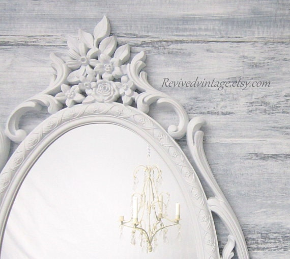 RESERVED for LAURALEA For Sale Oval Mirror Shabby Chic Baby Nursery ...