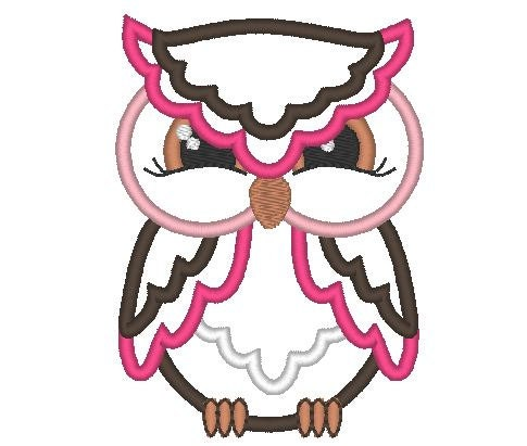Owl machine embroidery fill stitch and applique by artapli for Descargar embroidery office design 7 5 full