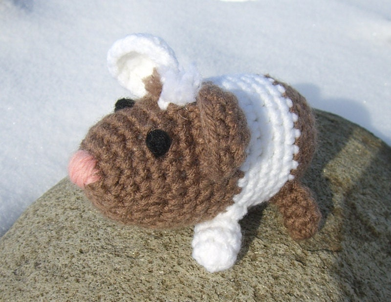 Crochet Amigurumi Guinea Pig : Amigurumi Guinea Pig Crochet Guinea Pig by MayflowerMarket ...