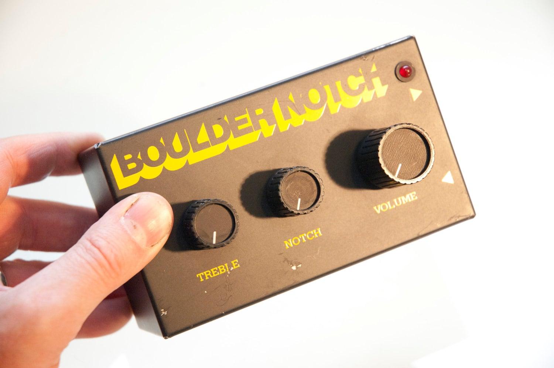 Vintage Boulder Notch EQ Pedal and guitar preamp Boulder Sound Parametric Wah - daindain