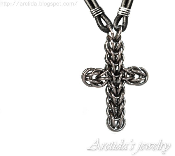 mens jewelry mens necklace celtic cross necklace by arctida