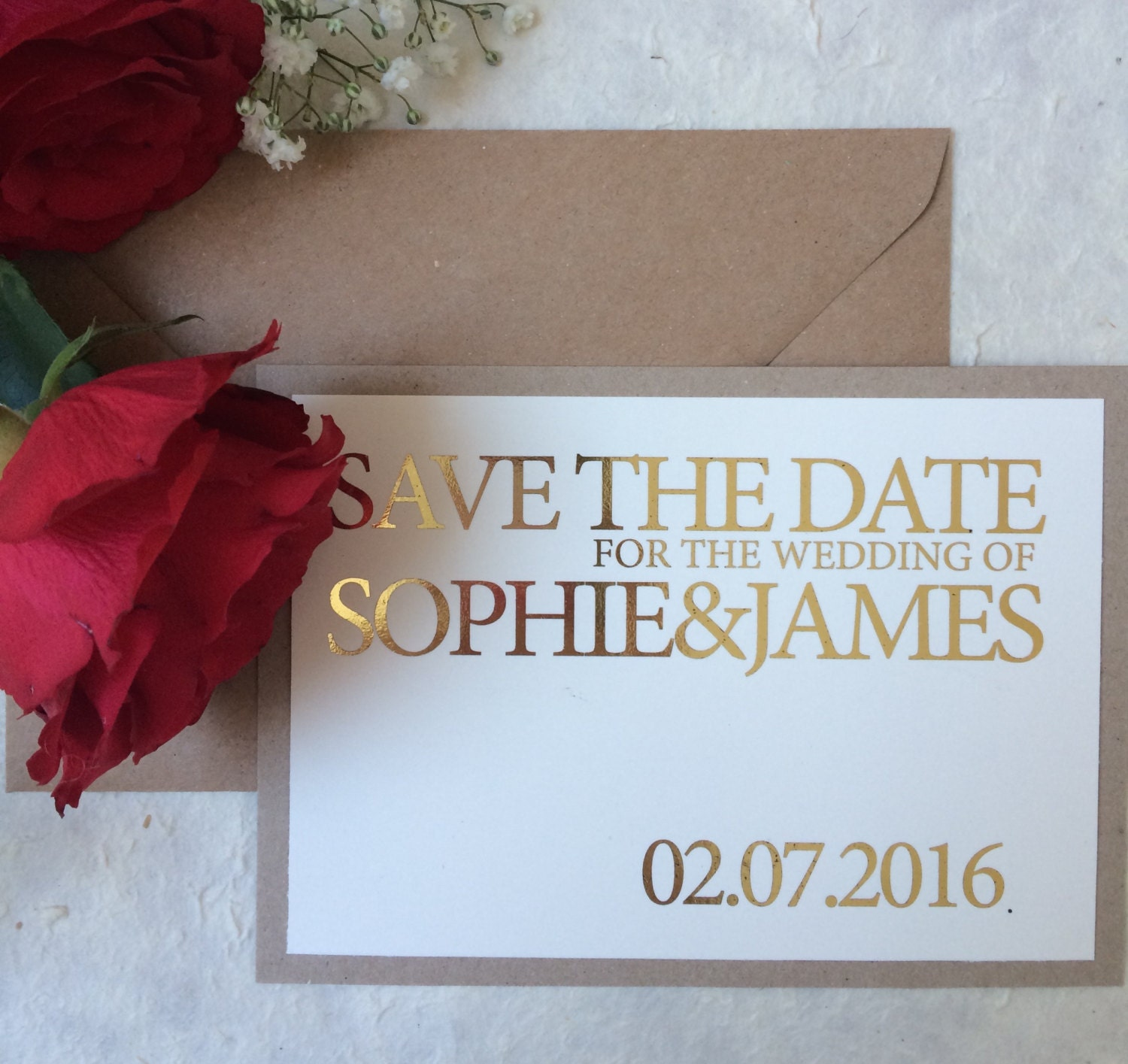 Rustic gold foil Save the date simple save the date elegant save the date romantic save the date