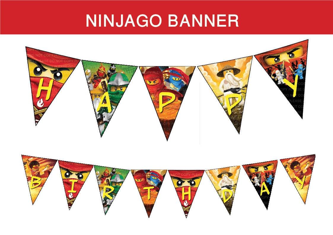 INSTANT DL Ninjago Happy Birthday Banner non by RavenJony on Etsy