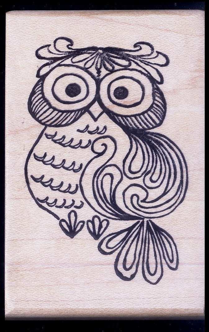 1970s pop art retro owl