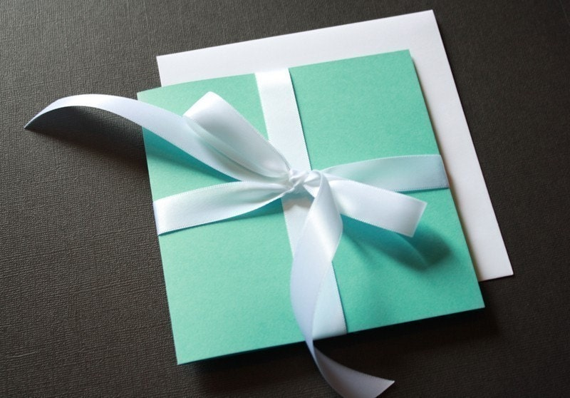 SALE Tiffany Box Wedding Invitation From VivaLaViolette