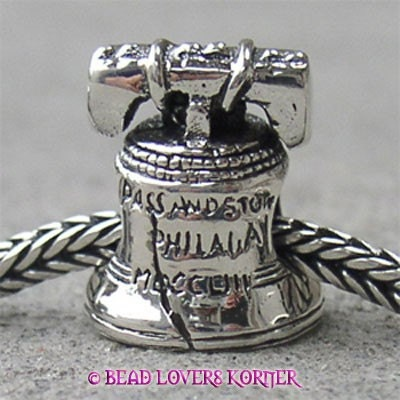 Liberty Bell Landmark Bead Sterling Silver LM023