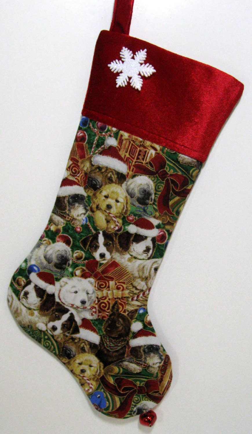 Personalized puppy dog christmas stocking by for Personalized dog christmas stocking
