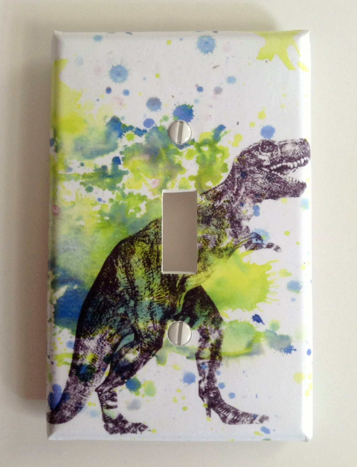 Tyrannosaurus Rex T-rex Dinosaur Decorative Light Switch Plate Cover Great for Children Kids Room Decor - idillard