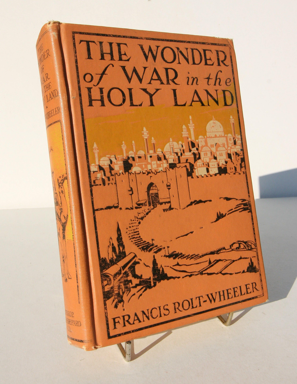 War in the Holy Land illustrated Vintage 1919 Antique Travel History Book Hardback British war First world War