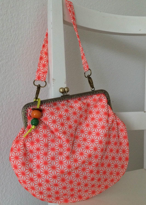 Handmade vintage geometric kimono  handbag