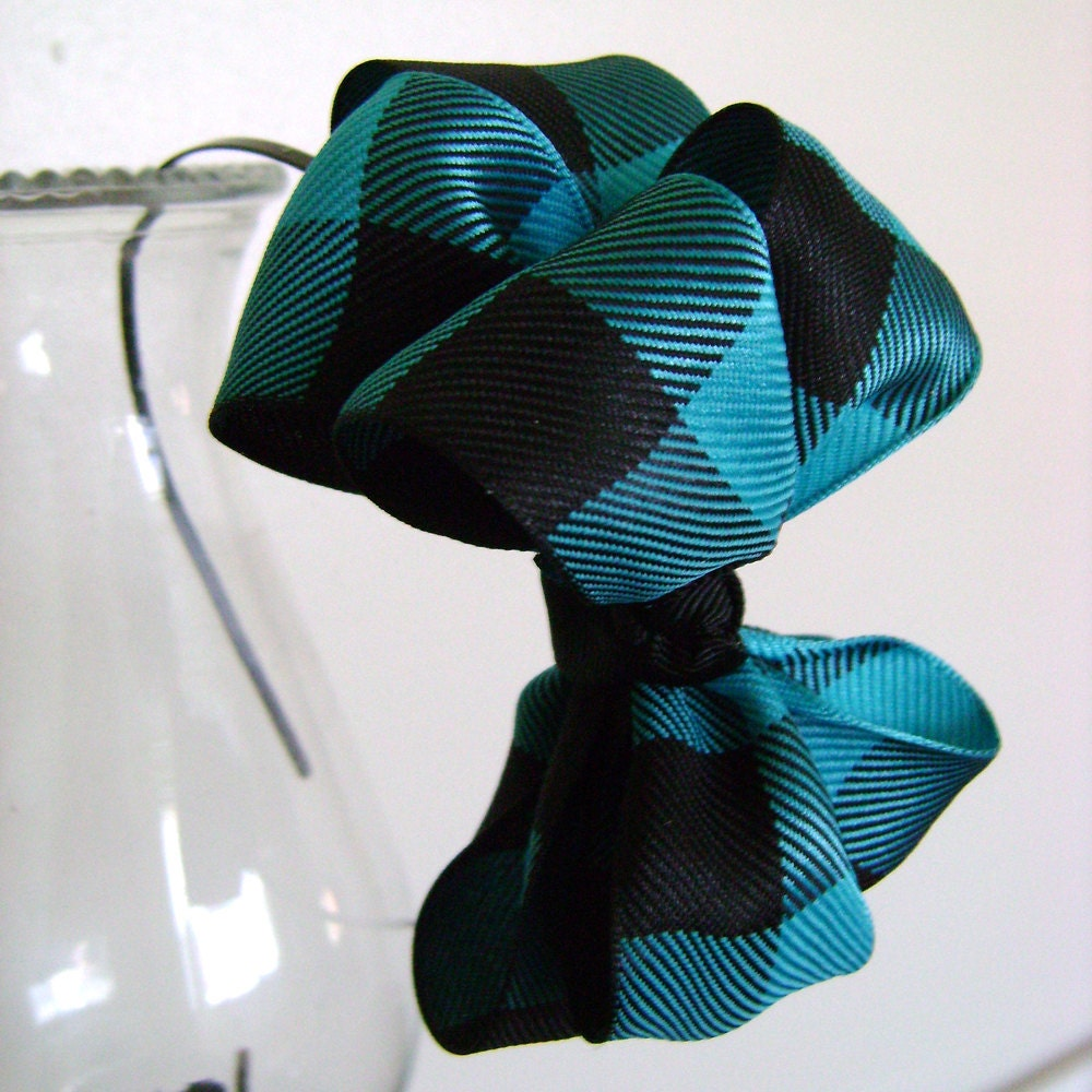 Aspen Plaid Stacked Boutique Bow Headband